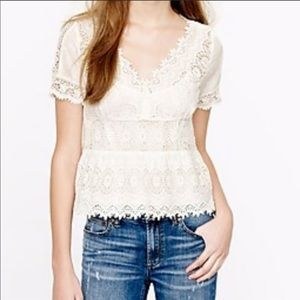 $250 Jcrew collection embroidered eyelet top 6